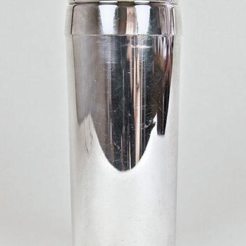 Cocktailshaker, Schüttelbecher, Wilhelm Wagenfeld 1959 für WMF, Geislingen