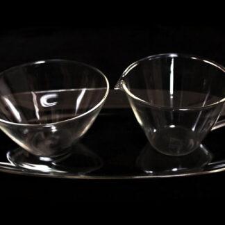 Milch- und Zuckerset, Heinrich Löffelhardt, 1955, für Jenaer Glas, Schott & Gen.