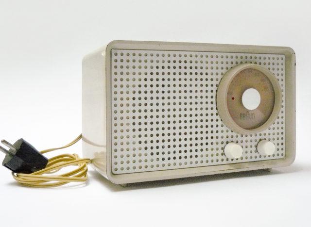 Arthur Braun, Radio, Kleinsuper SK 1, hellbeige, Braun Frankfurt, 1955