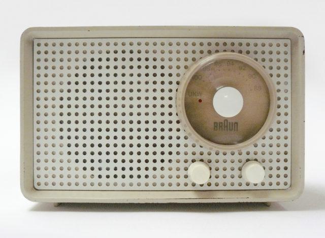 Braun Radio, Kleinsuper SK 1, Braun Frankfurt, 1955, Frontansicht