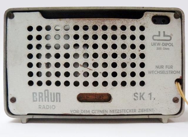 Braun Radio Kleinsuper SK 1, Rückansicht