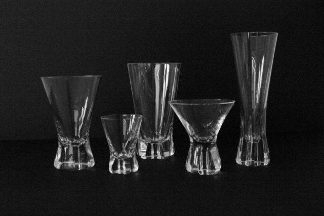 """Trinkglassatz """"Patricia"""", Wilhelm Wagenfeld für Rosenthal, 1950er Jahre"""