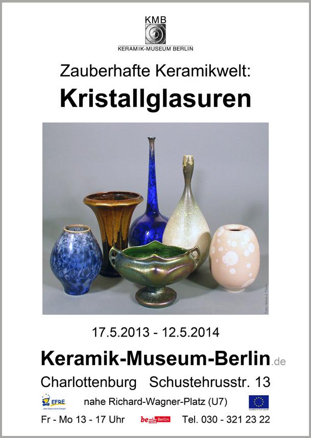 Kristallglasuren im Keramik Musem Berlin