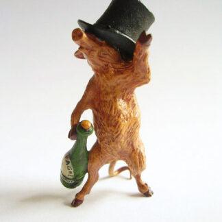 "Wiener Bronze, ""Betrunkenes Schweinchen"", Wien, 1920er Jahre"